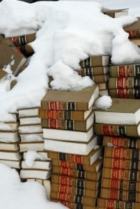 Colorado Law Books in Snow