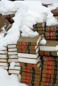 Colorado Law Books in Snow
