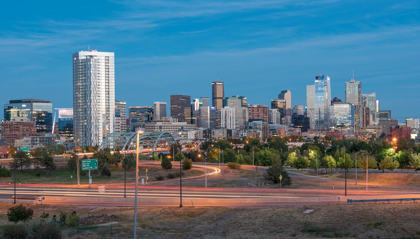 Colorado Tourism Downtown Denver Skyline
