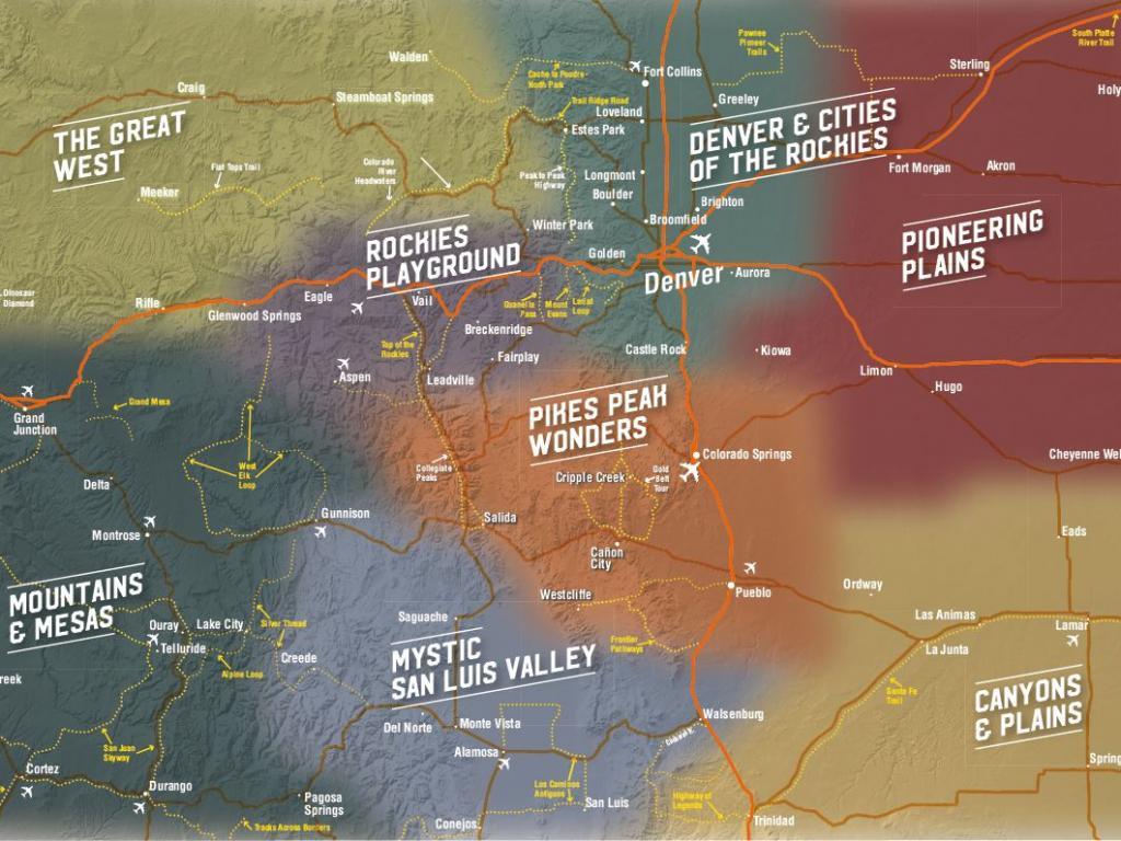 Colorado Tourism Regions CTO