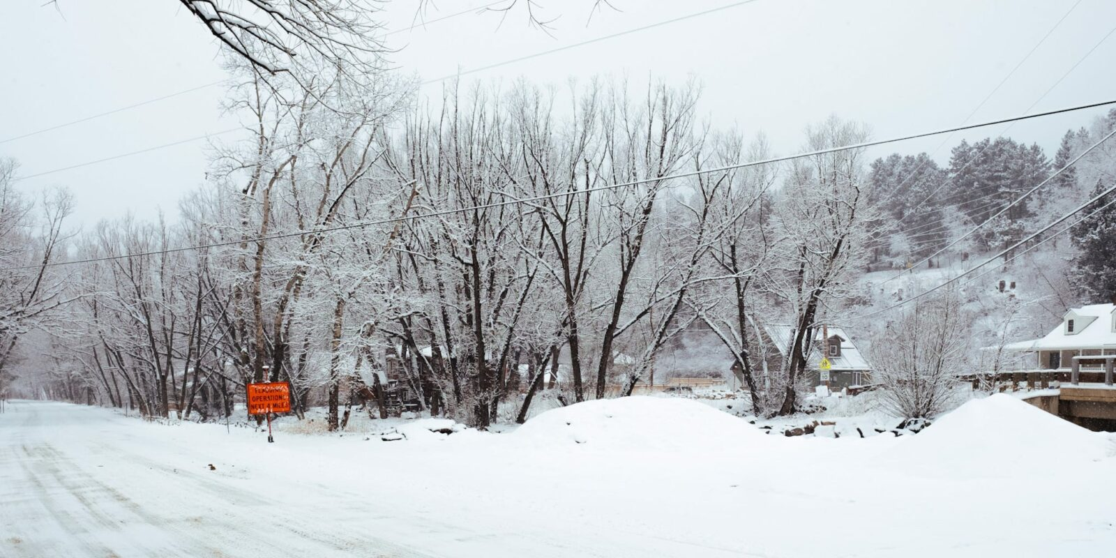 Jamestown Colorado Winter Mill Street