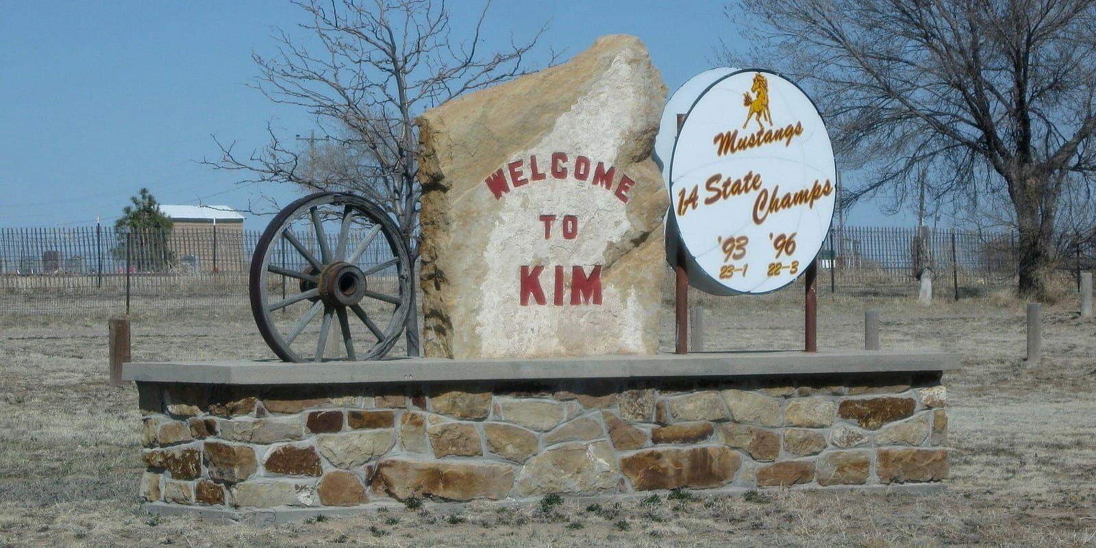 Kim Colorado Welcome Sign