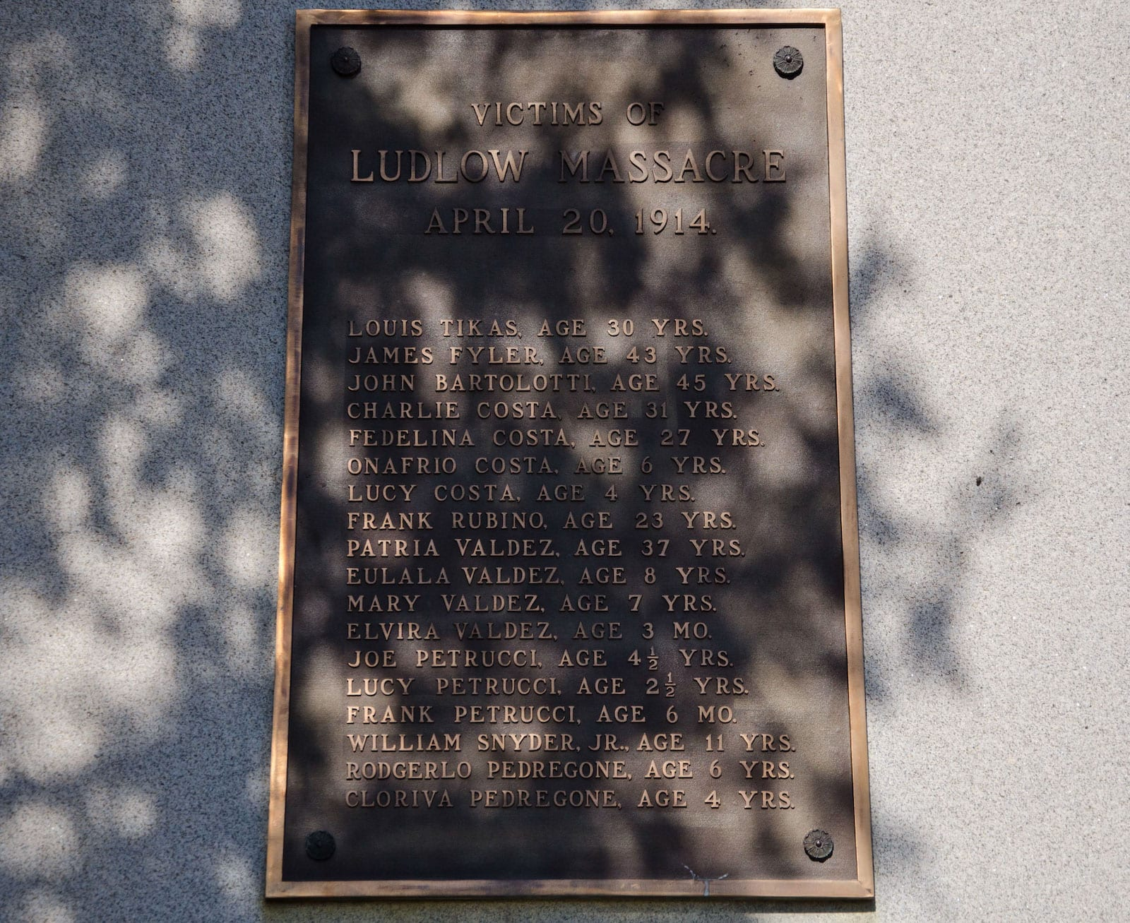 Ludlow Massacre Site Colorado