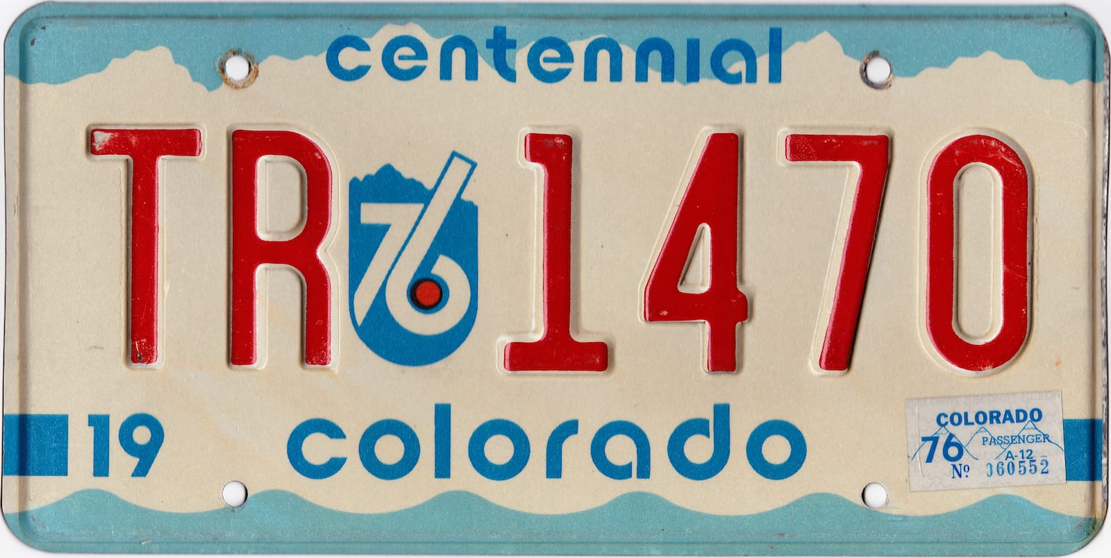 1976 Colorado Centennial License Plate