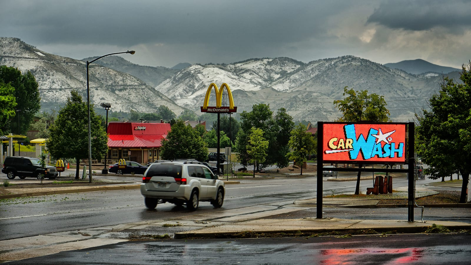 Colorado Springs Weather August Summer Hail Storm Stetson Park