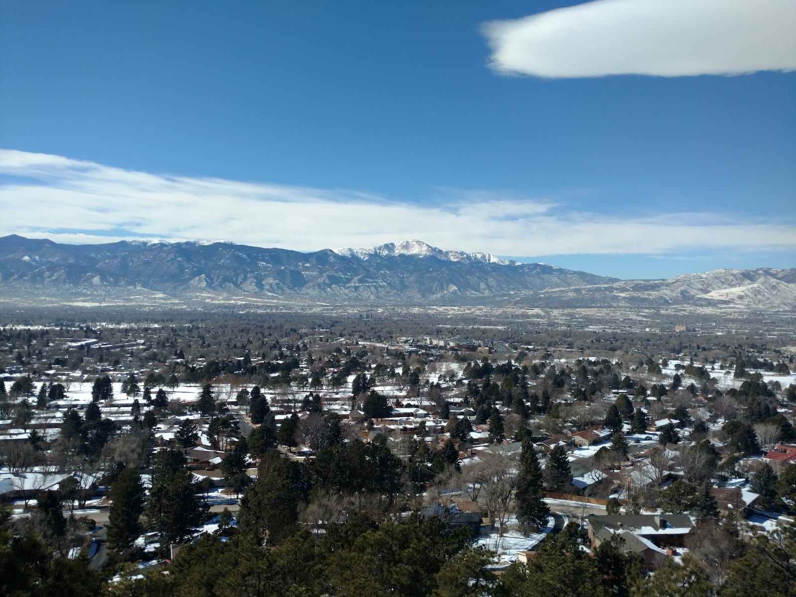 Colorado Springs Weather Winter Palmer Park Northwest Aerial View