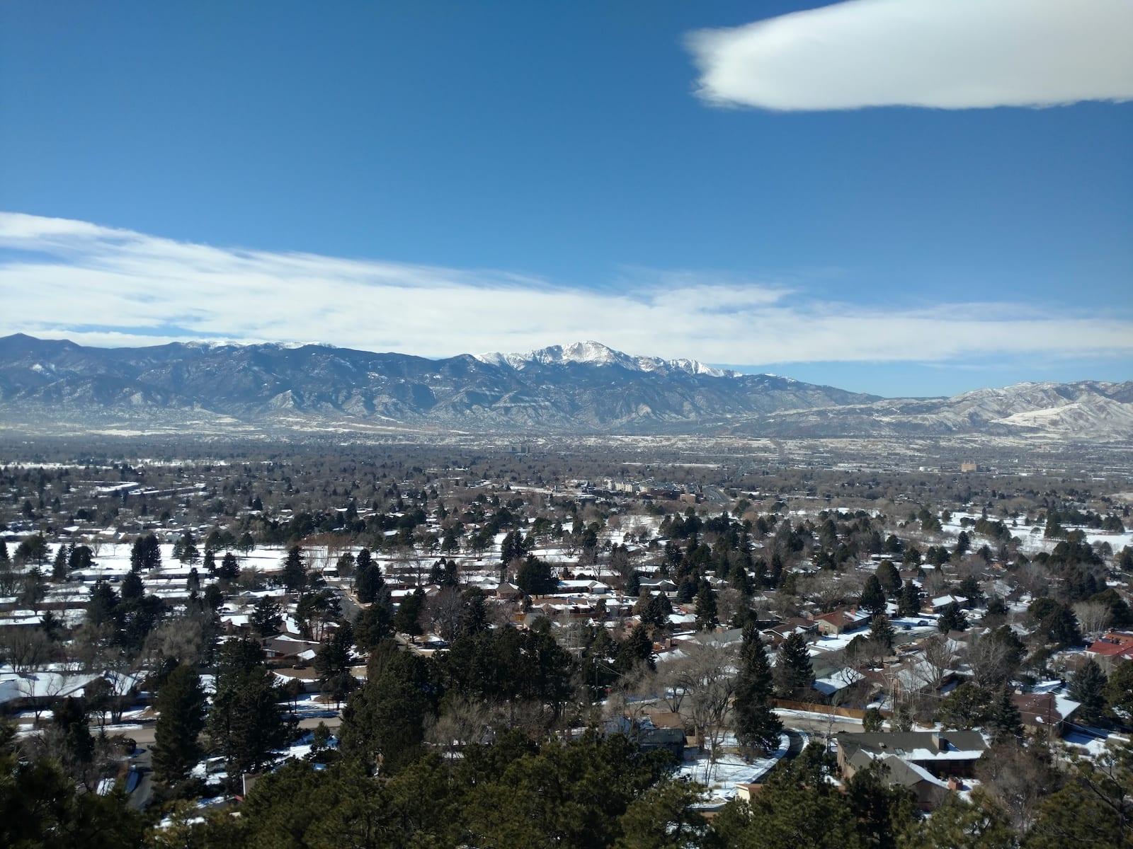 Colorado Springs Weather Winter Palmer Park Northwest Aerial View