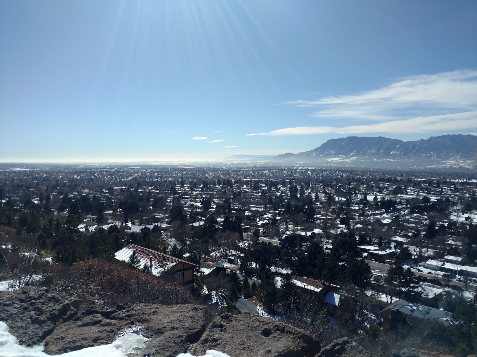 Colorado Springs Weather Winter Palmer Park Southwest Aerial View