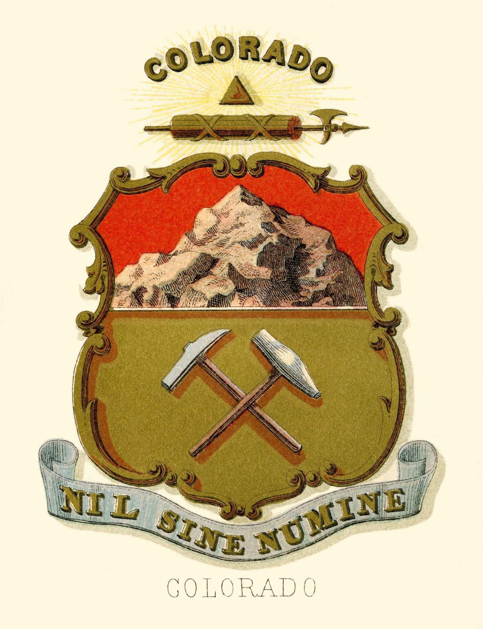 Colorado Historical Coat Of Arms Illustrated 1876