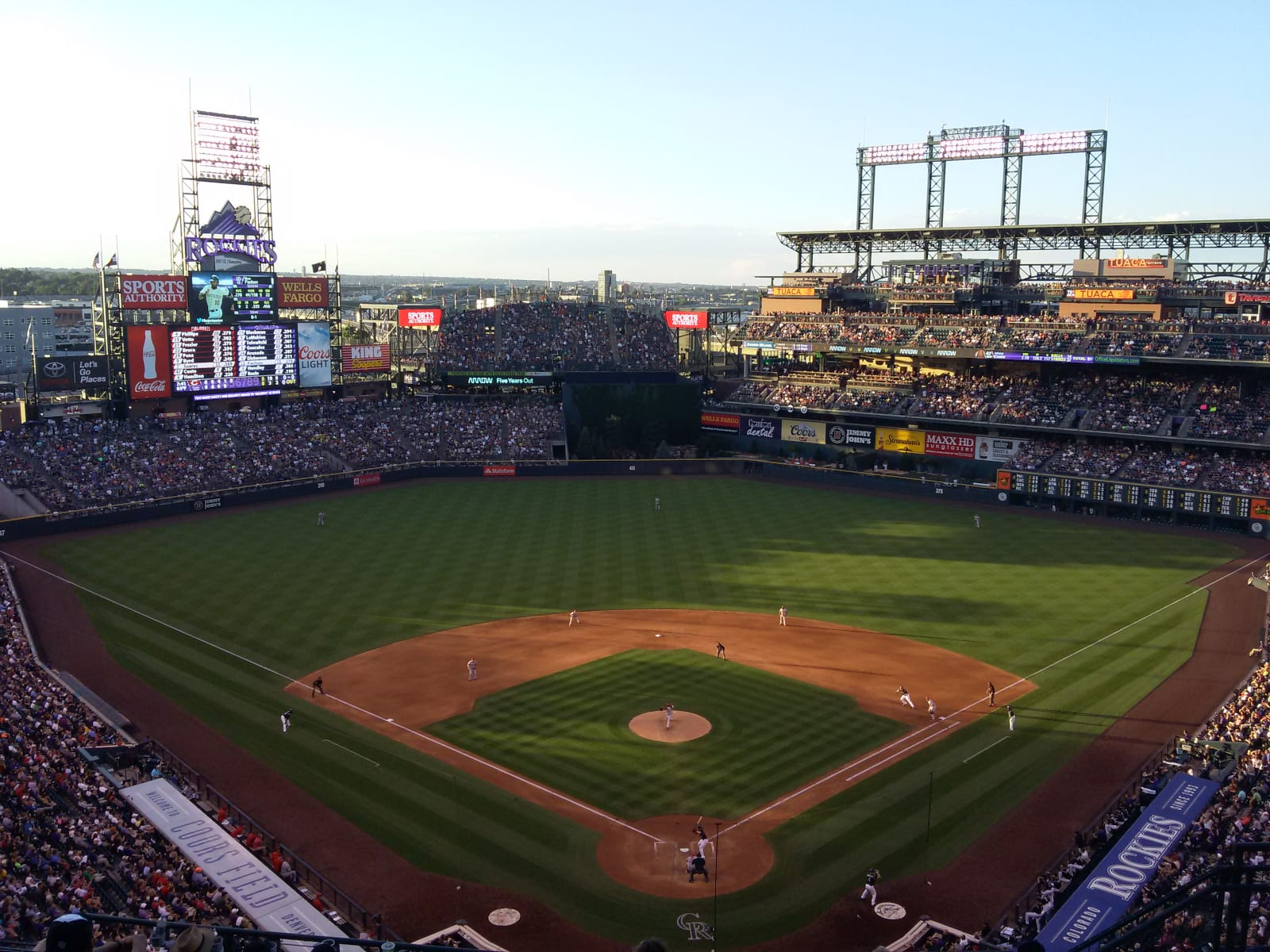 Coors Field Rockies vs Reds 2015
