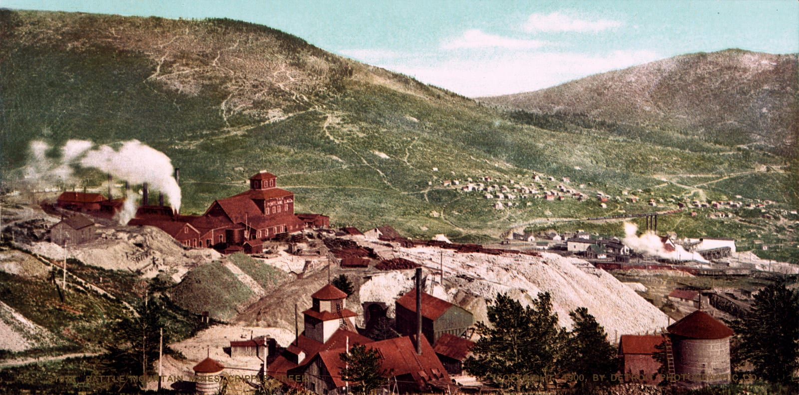 Battle Mountain Mines Cripple Creek CO Circa 1900