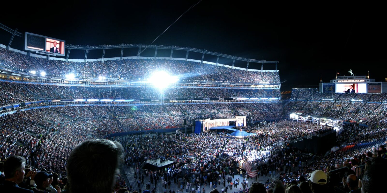 Democratic National Convention 2008 Obama Speech Mile High Stadium