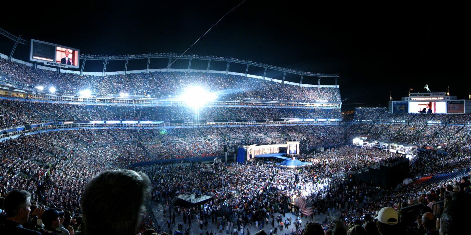 Democratic National Convention 2008 Obama Speech Mile High Stadium