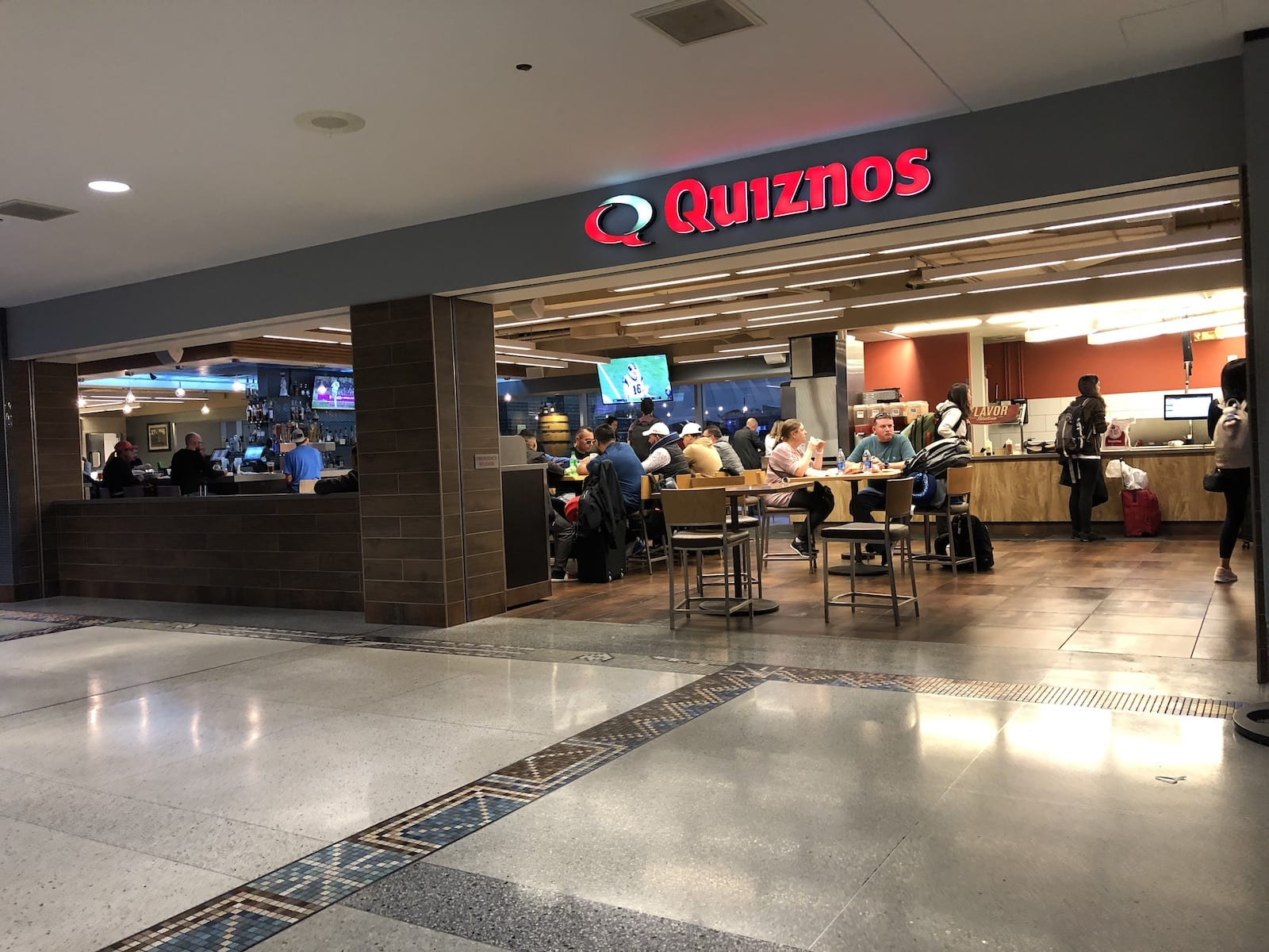 Quiznos Restaurant Denver International Airport