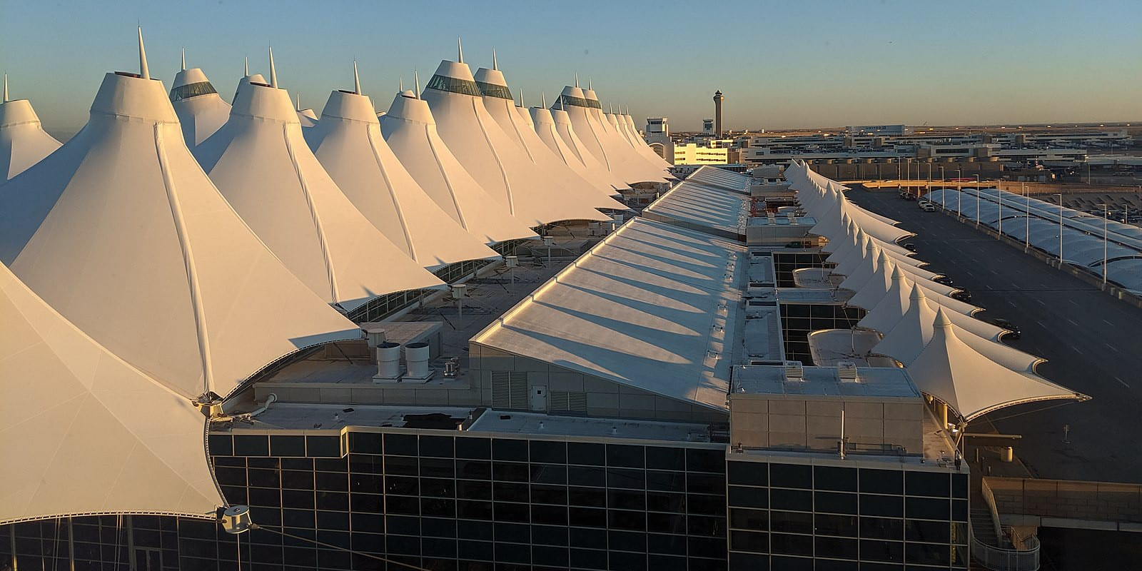 Denver International Airport Main Terminal Teepees Early Morning