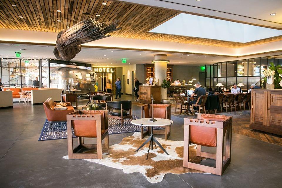 lobby at maven hotel denver