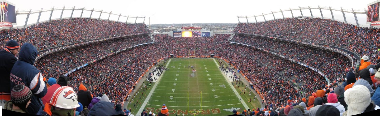 Mile High Stadium Denver Broncos vs Ravens 2013 Playoff Game