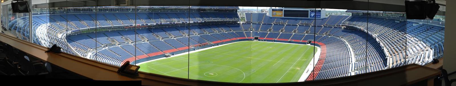 Mile High Stadium Denver CO Press Area View