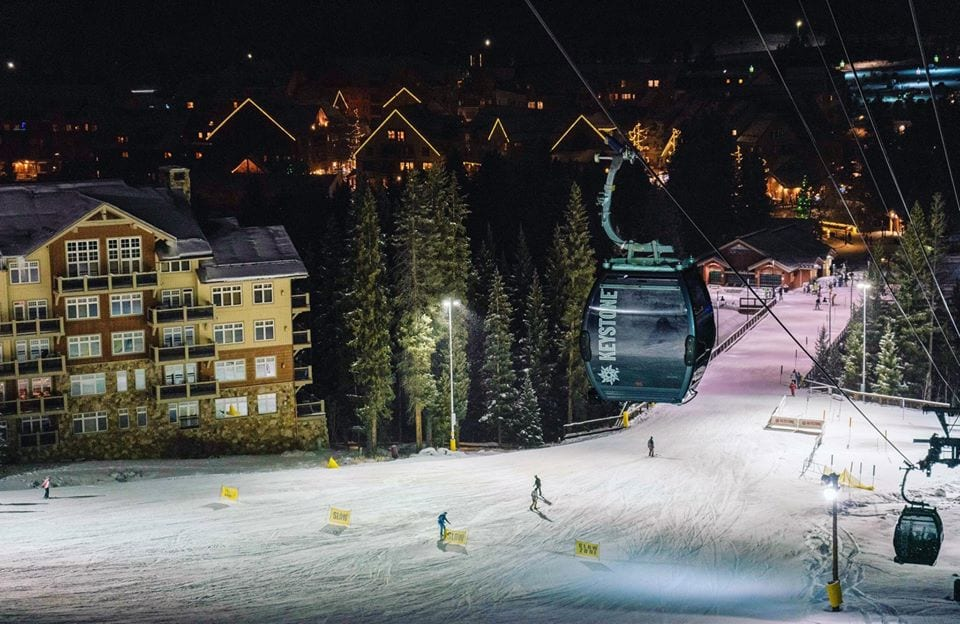 night skiing at keystone resort colorado