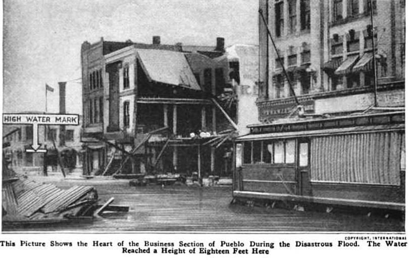 Pueblo Colorado Business District 1921 During Great Floor