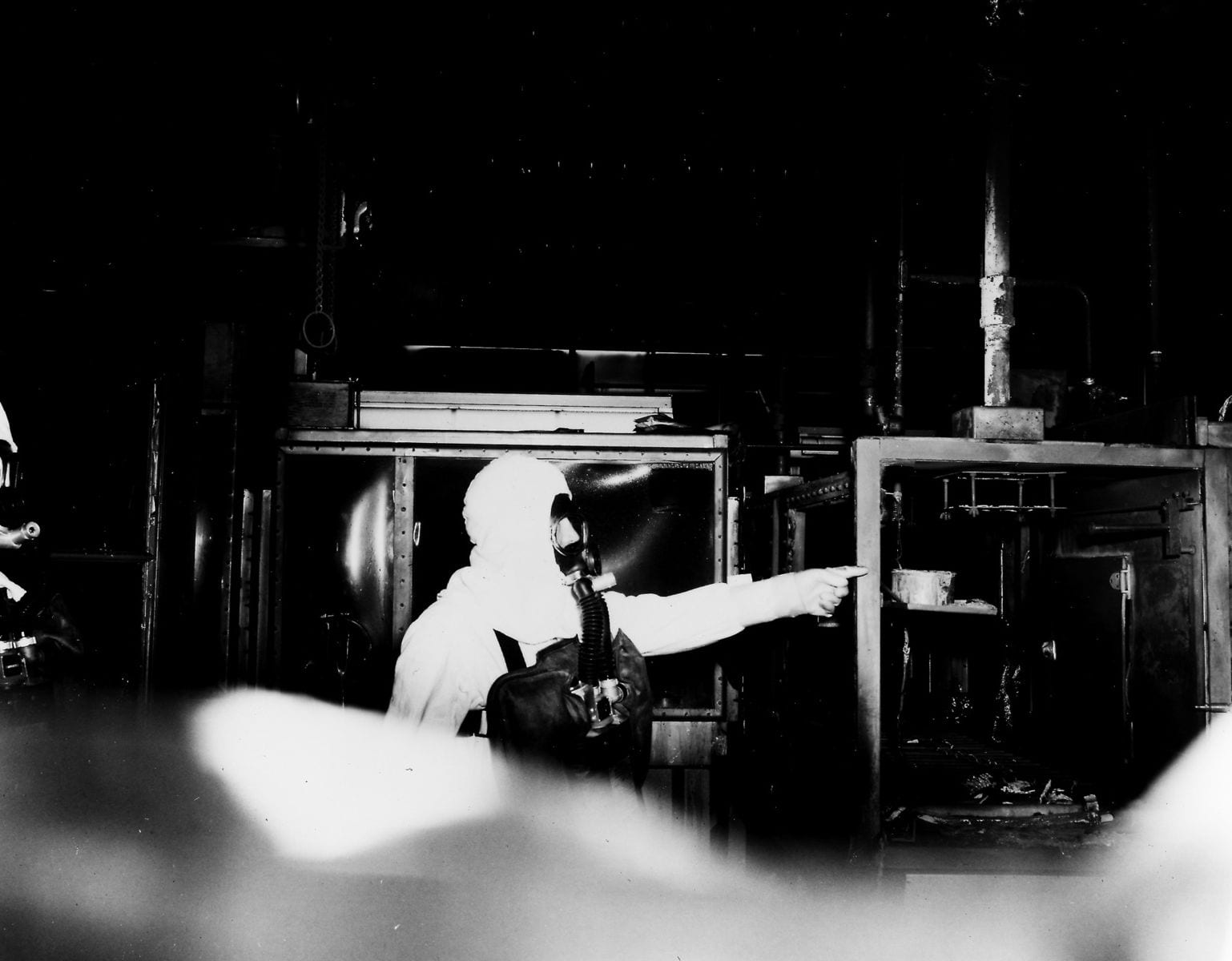Rocky Flats Glove Box After Fire 1957