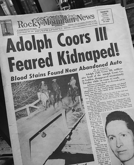 Adolph Coors III Cover Rocky Mountain News February 1960