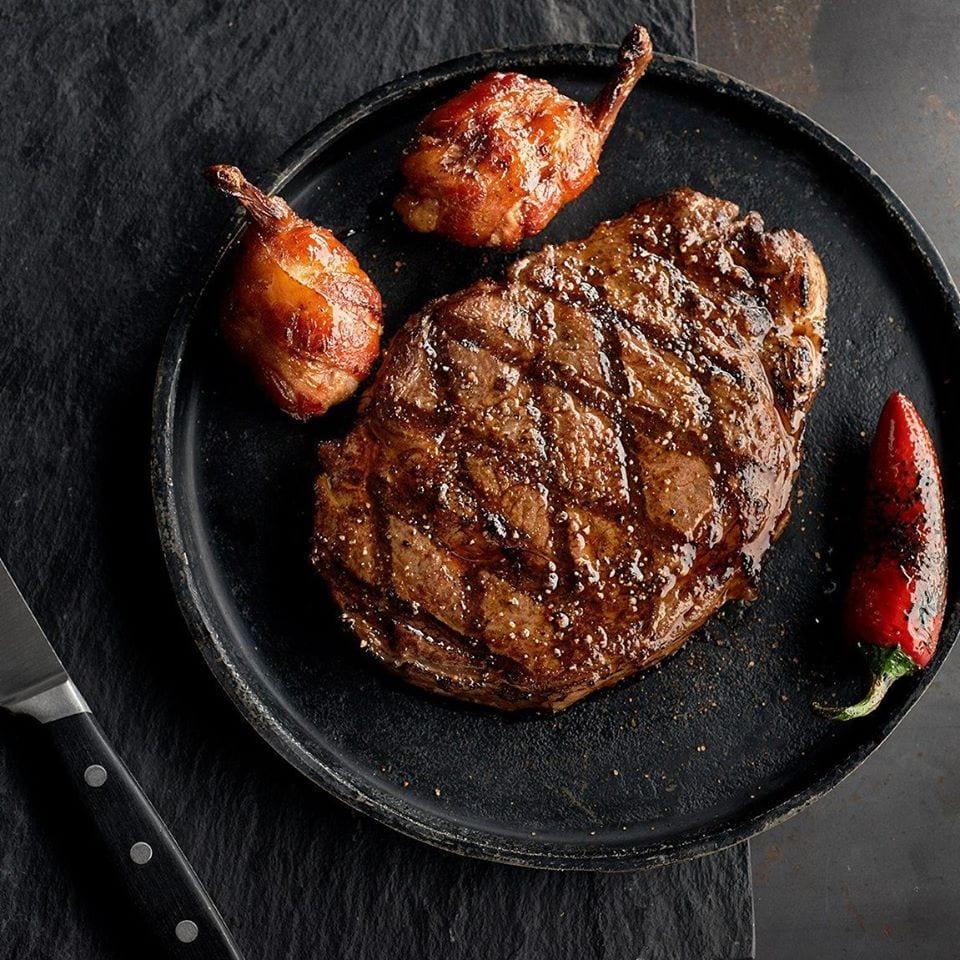 steak at saltgrass steakhouse, colorado springs