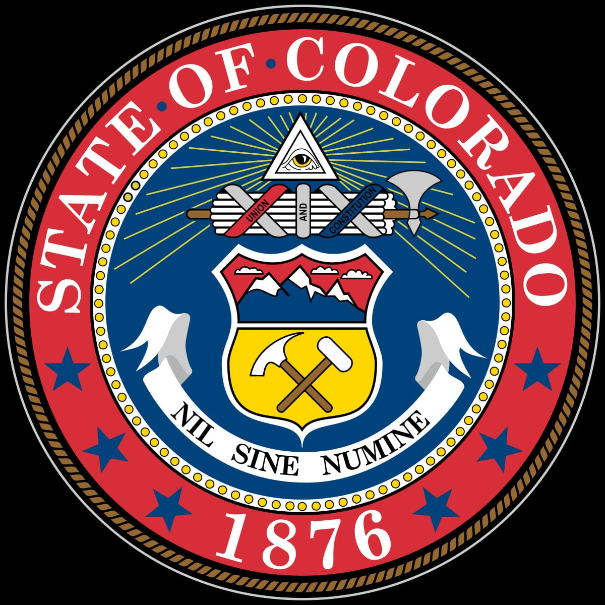 Seal of Colorado 1876