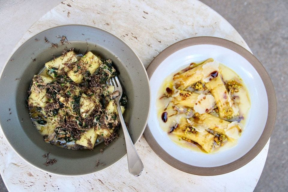 pasta dishes from tavernetta