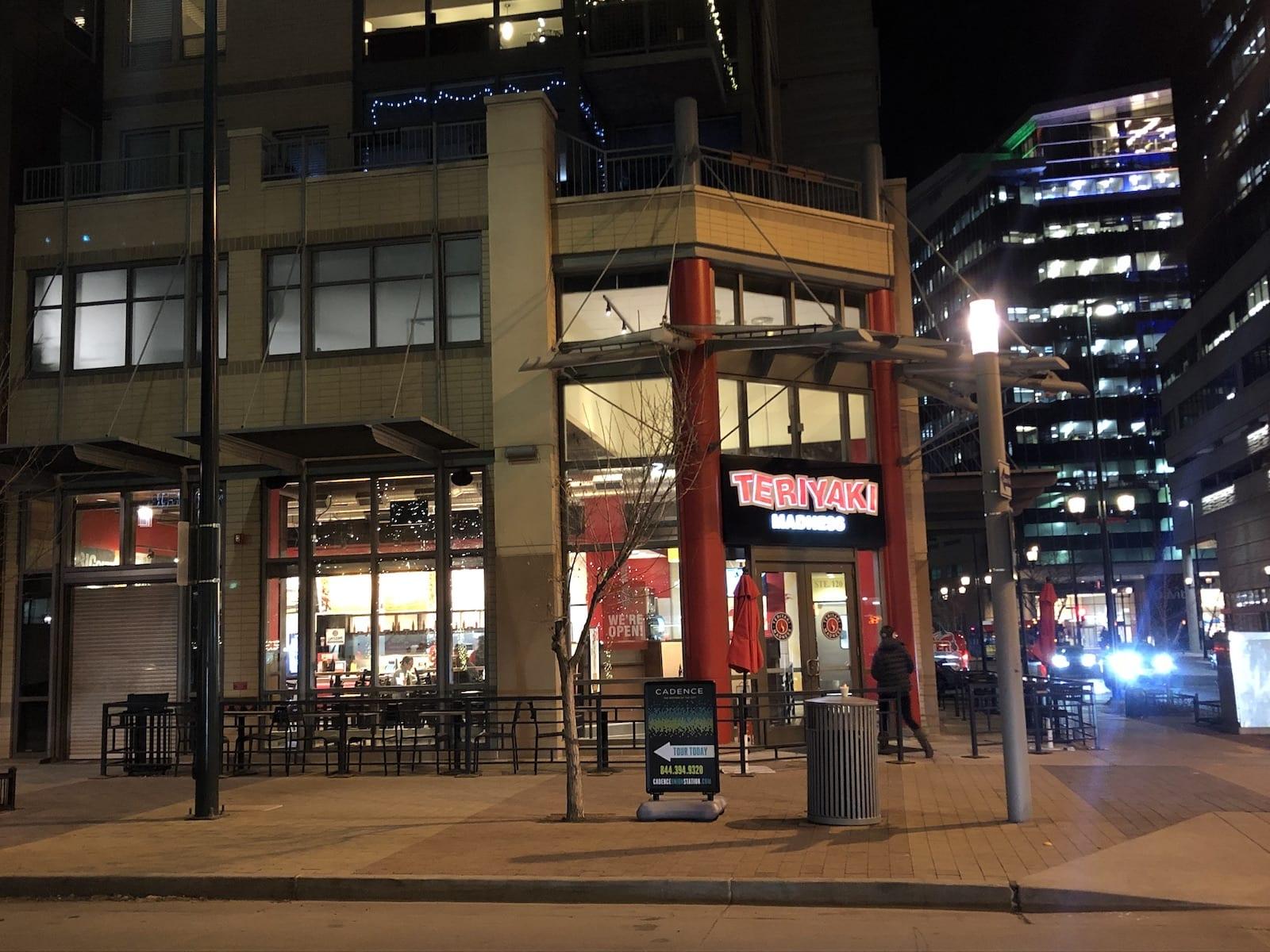 Teriyaki Madness Downtown Denver Exterior Night