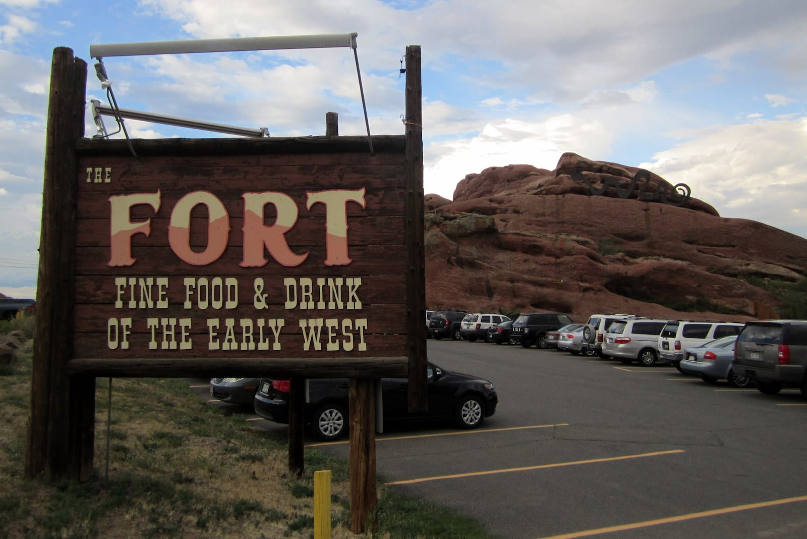 The Fort Restaurant Morrison CO Welcome Sign