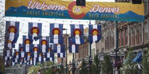 image of sign for great american beer festival denver