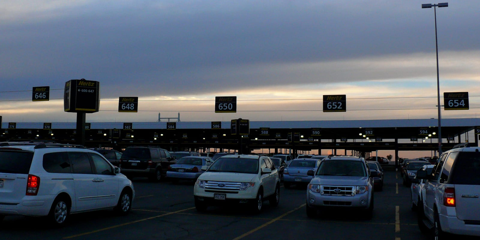 Car Rentals Denver Airport Hertz Parking Lot