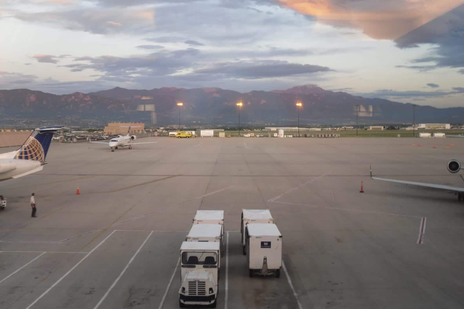 Colorado Springs Airport Mountains