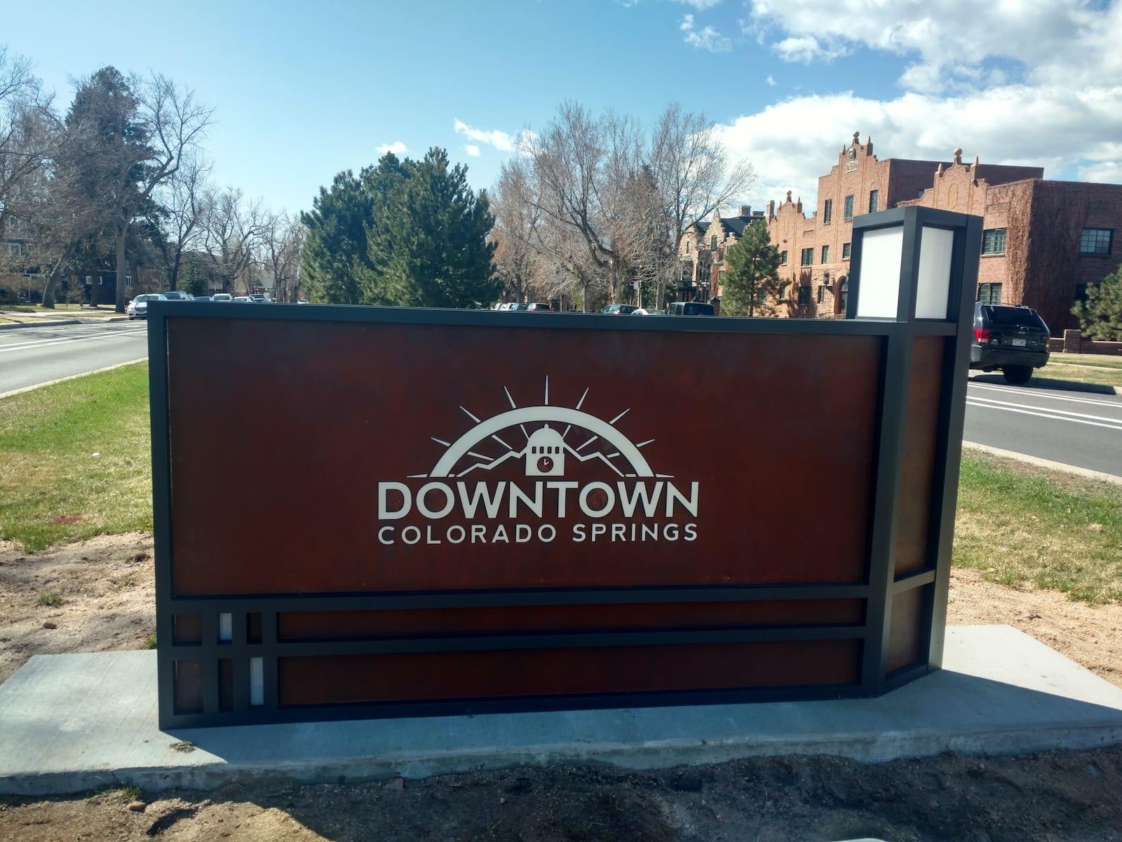 Downtown Colorado Springs Sign