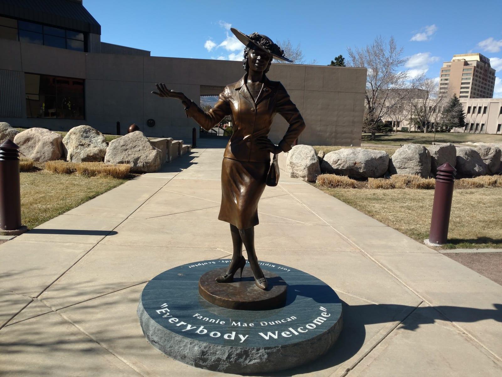 Fannie Mae Statue Colorado Springs