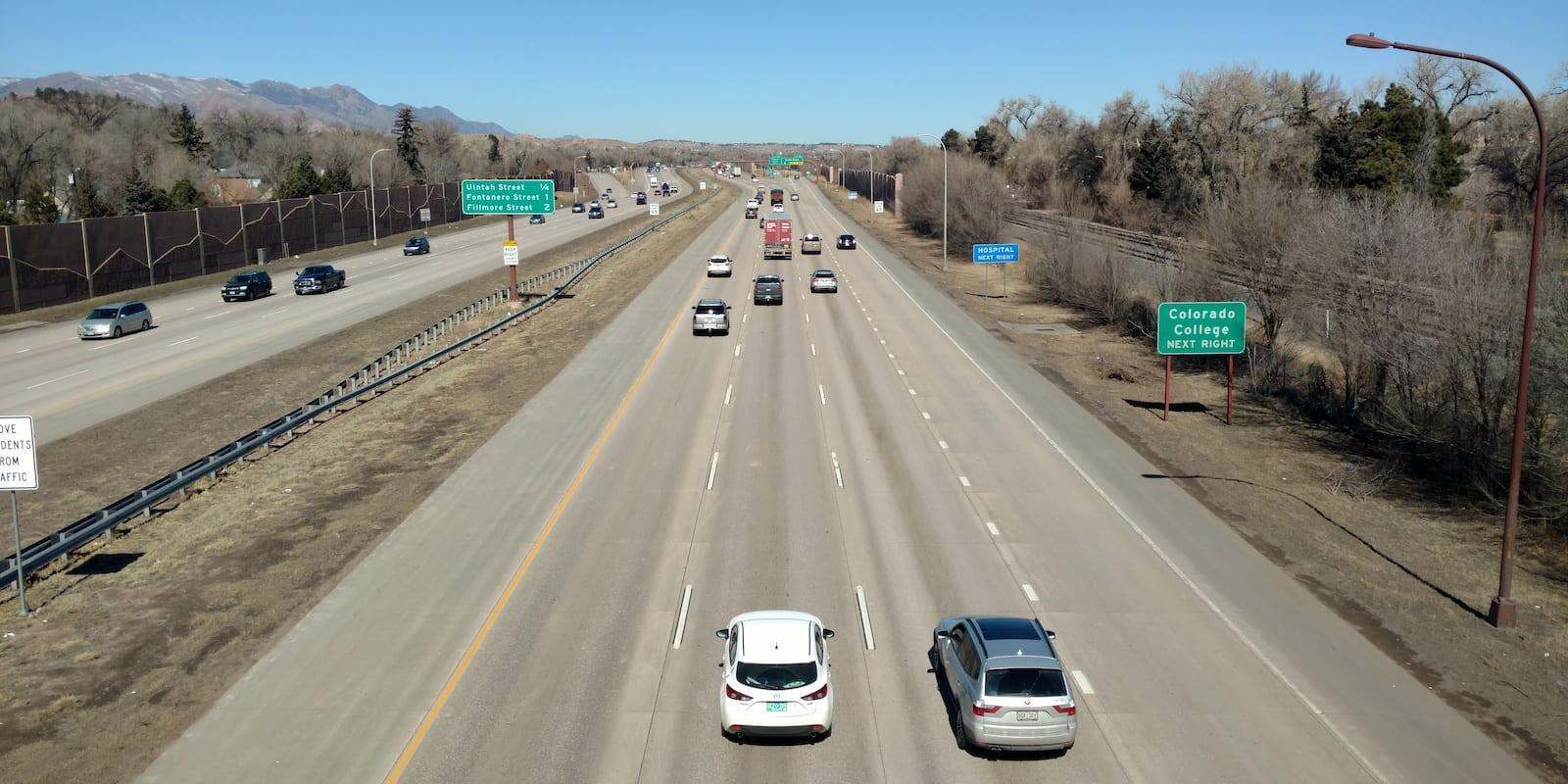 I-25 Travel from Colorado Springs to Denver
