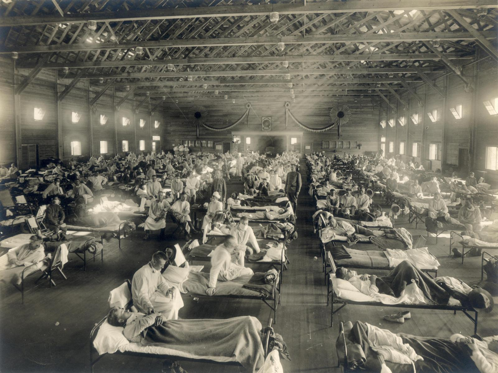 Spanish Flue Camp Funston Kansas Emergency Hospital