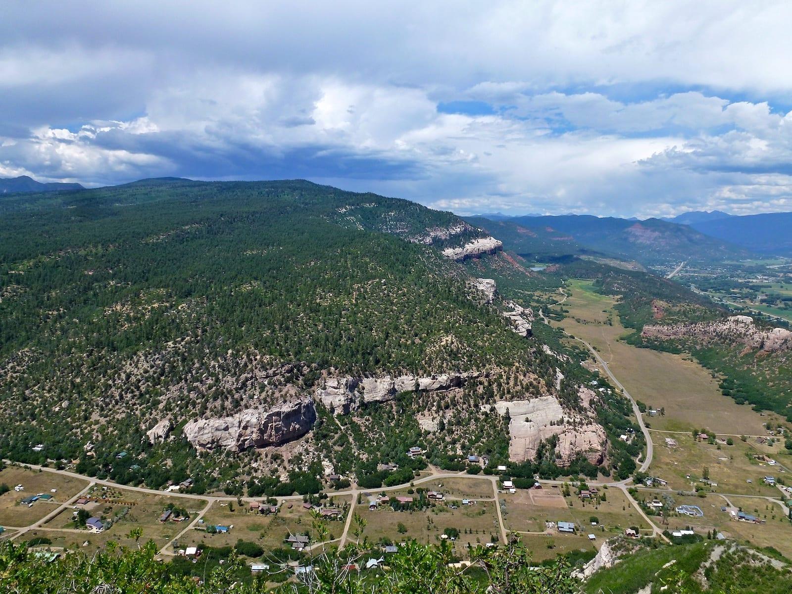 Falls Creek Valley Durango CO Aerial View