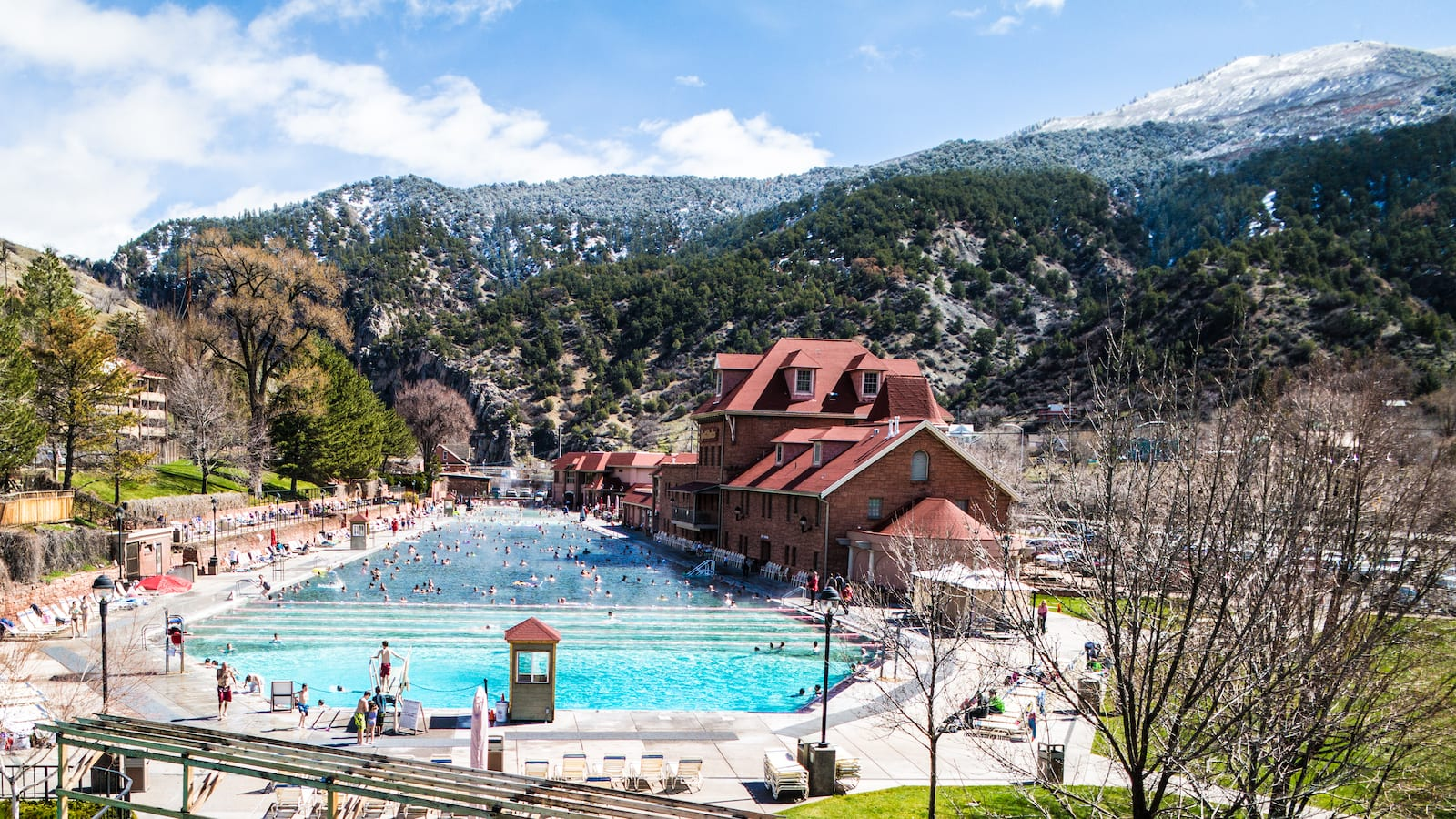 Glenwood Hot Springs Swimming Pool Mountains