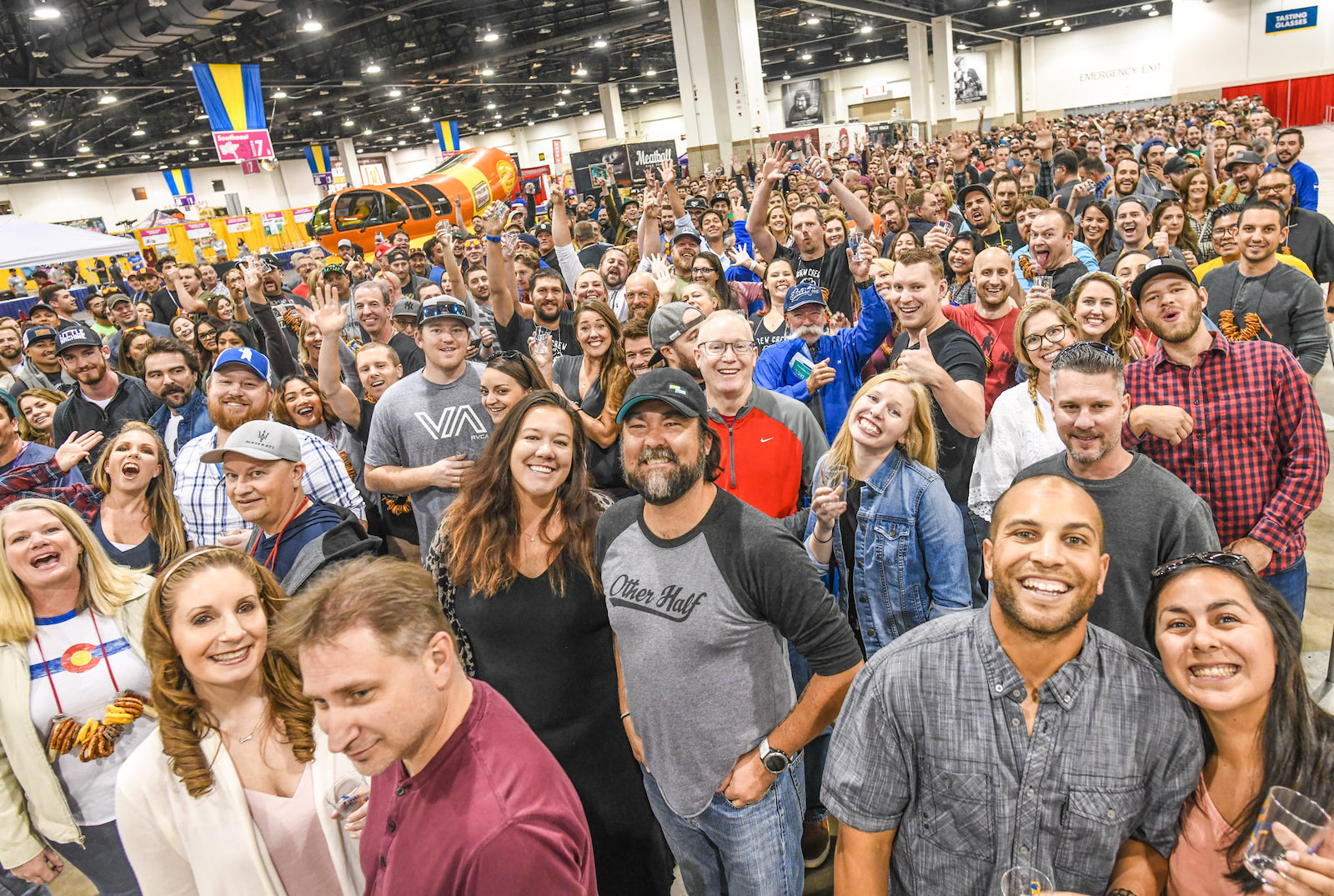 Image of the crowd at the Great American Beer Festival in Colorado