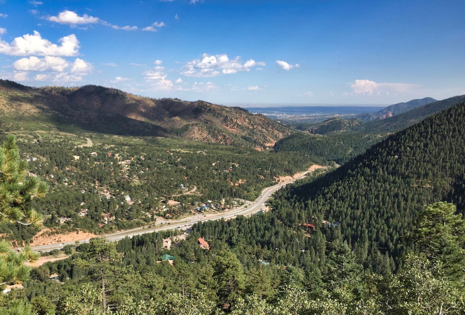 Highway 24 Towards Manitou Springs CO
