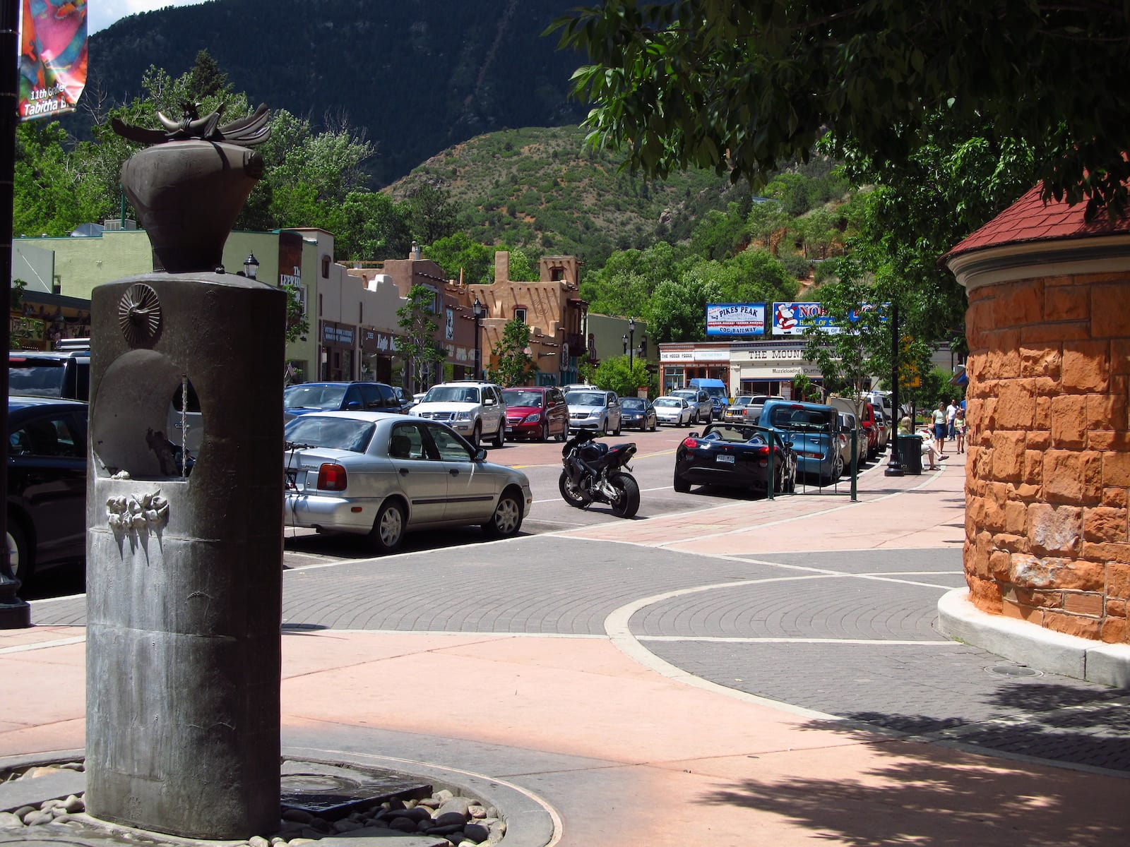 Cheyenne Spring Drinking Fountain Downtown Manitou Springs CO