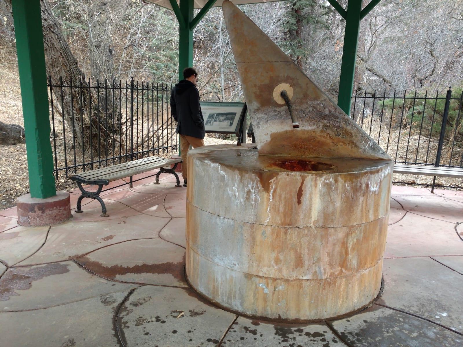 Iron Spring Geyser Water Fountain Manitou Springs CO