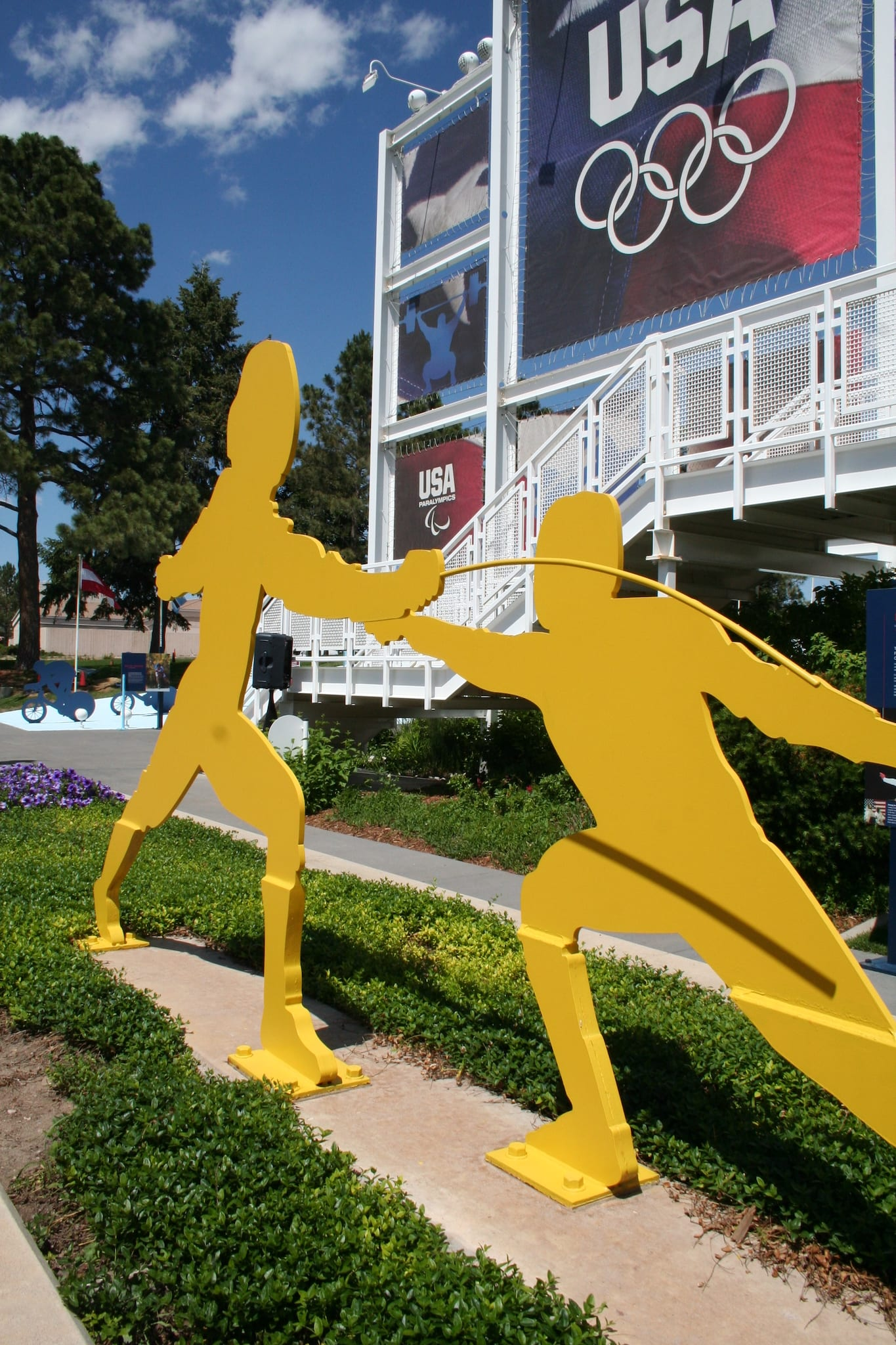 Olympic Training Center Colorado Springs Fencing Statue