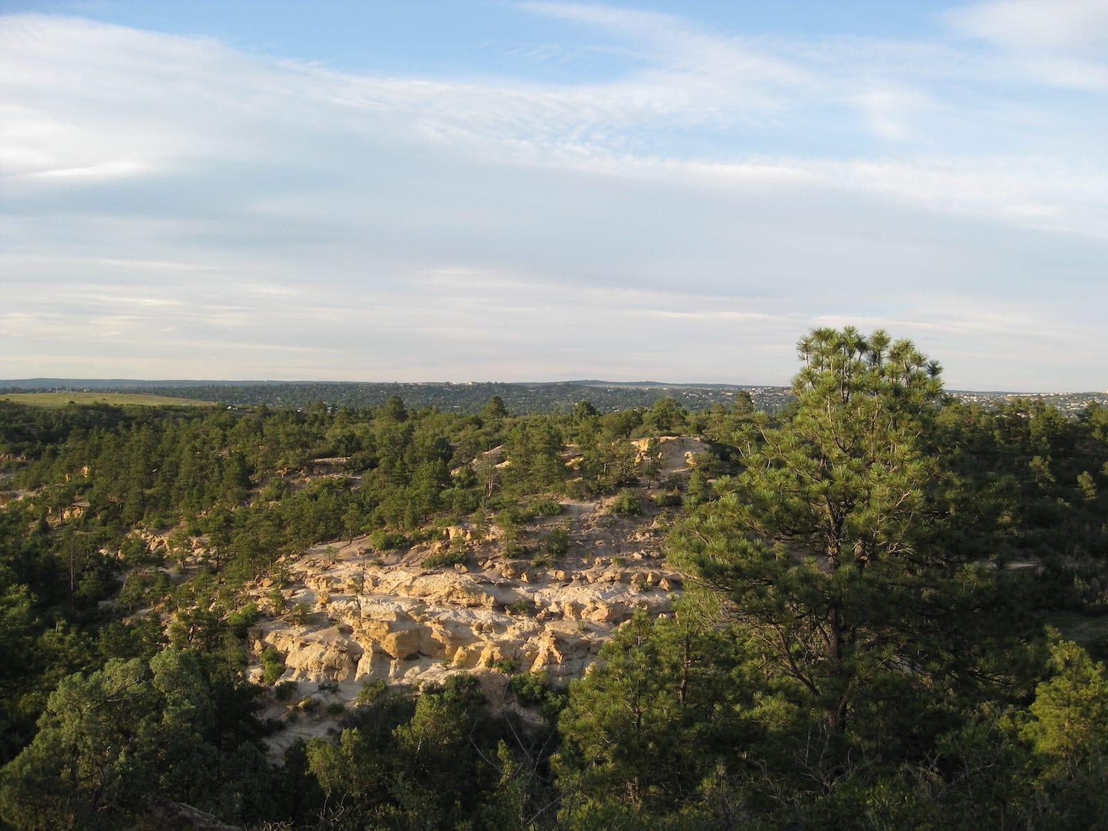 Palmer Park Colorado Springs Grandview Trail Looking North