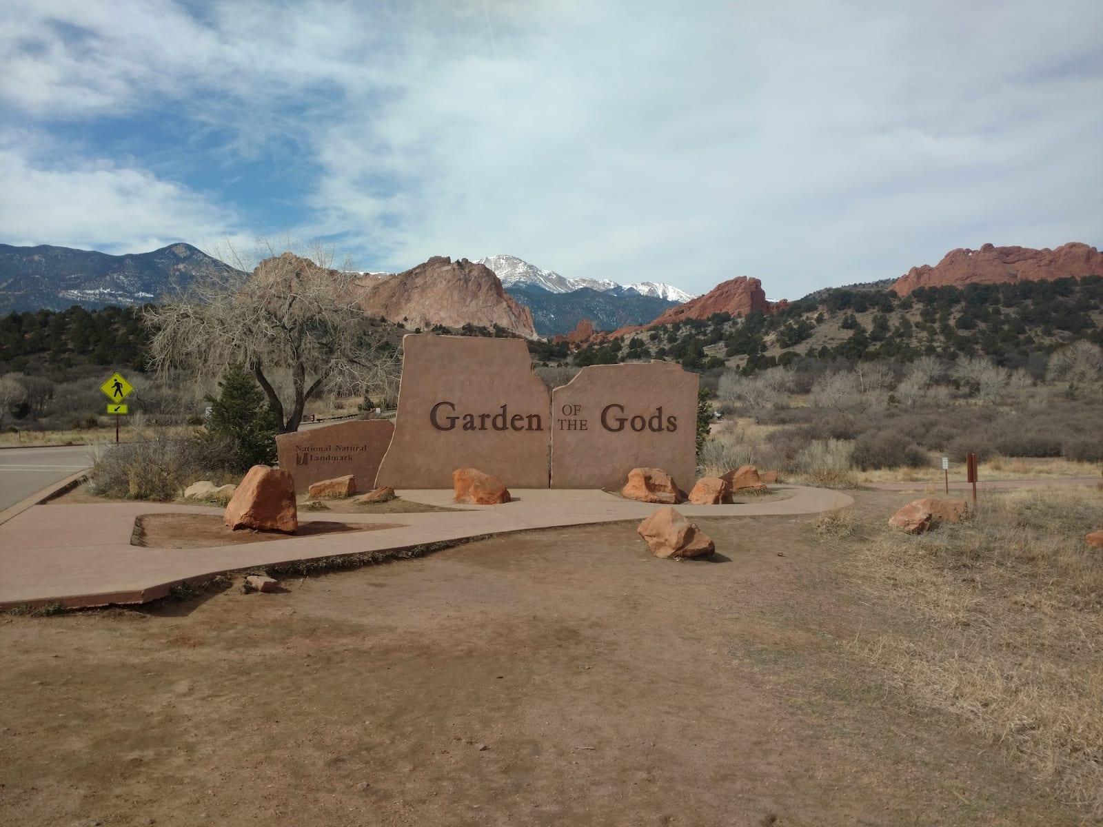 Garden of the Gods Sign Colorado Springs
