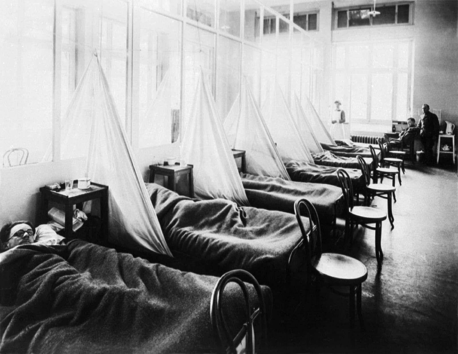 US Army Camp Hospital No. 45 France Spanish Flu Ward 1918