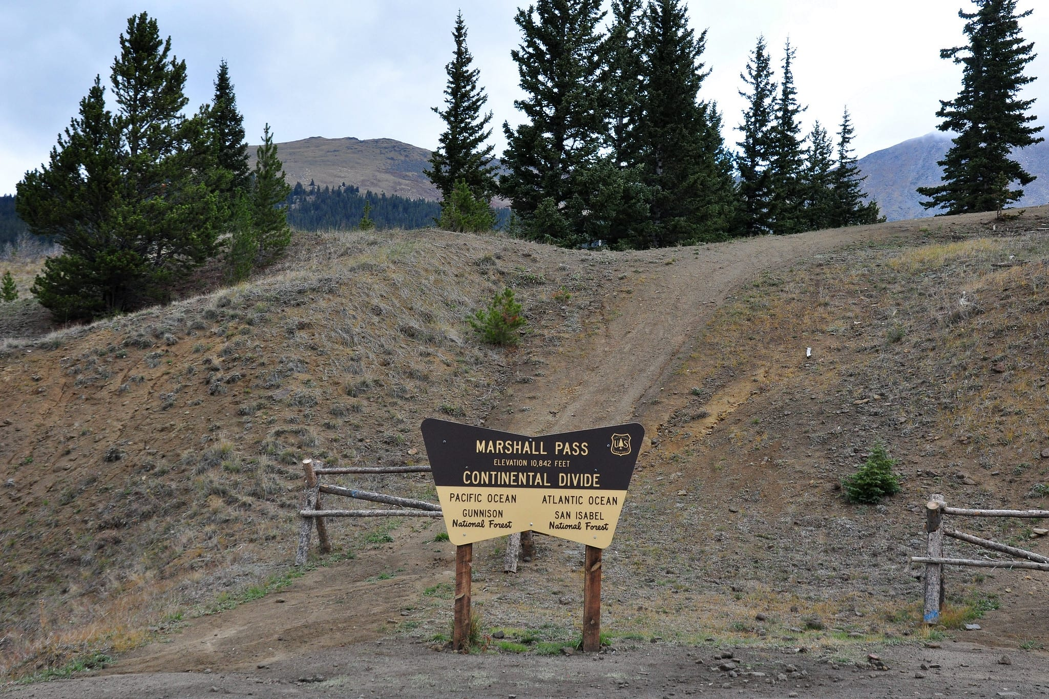 marshall pass continental divide
