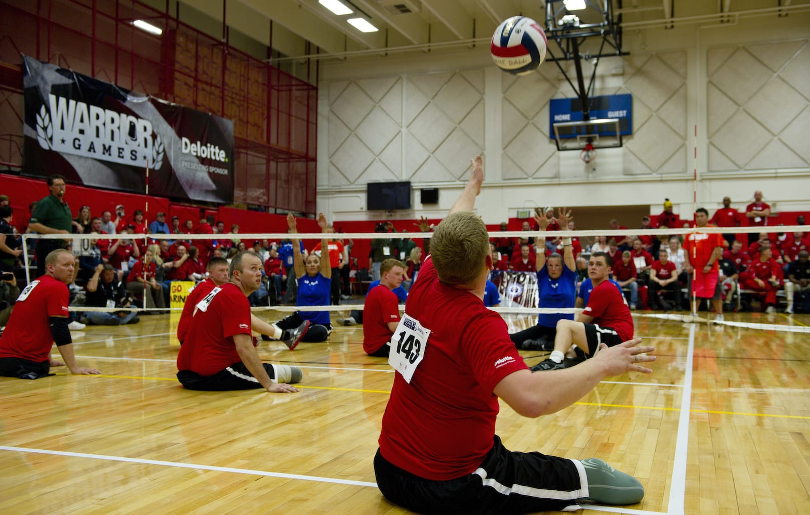 Volleyball at the Olympic Training Center.